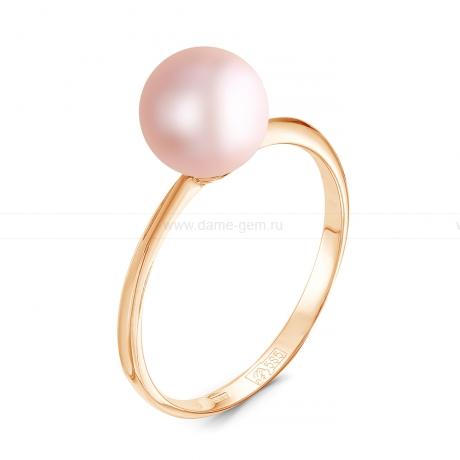 Кольцо из серебра с розовой речной жемчужиной 7-7,5 мм. Артикул 11806