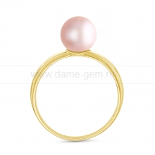 Кольцо из серебра с розовой речной жемчужиной. Артикул 11809