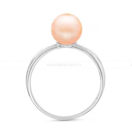 Кольцо из серебра с розовой речной жемчужиной. Артикул 11811