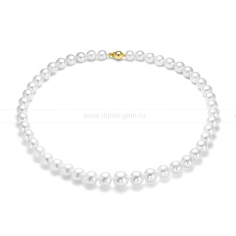 Ожерелье из белого морского Австралийского жемчуга 8-10,4 мм. Артикул 11851