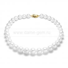 Колье (ожерелье) из белого морского Австралийского жемчуга. Артикул 11853