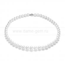Ожерелье из белого морского Австралийского жемчуга 8-10 мм. Артикул 11854