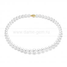Ожерелье из белого морского Австралийского жемчуга 8-10,6 мм. Артикул 11857