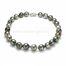 Колье (ожерелье) из черного Таитянского морского жемчуга. Артикул 11861