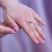 Кольцо из белого золота с белой жемчужиной 7-7,5 мм. Артикул 12019