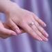 Кольцо из белого золота с белой жемчужиной 7,5-8 мм. Артикул 12025