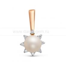 Кулон с белой речной жемчужиной. Артикул 12041