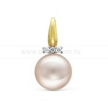 Кулон из золота с белой жемчужиной. Артикул 12042