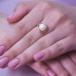 Кольцо из красного золота с белой жемчужиной 10,5-11 мм. Артикул 12069