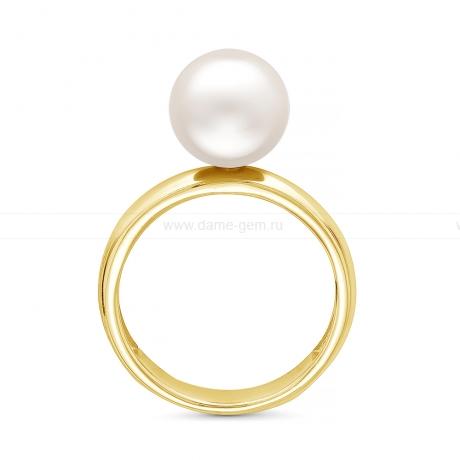 Кольцо из серебра с белой жемчужиной 8-8,5 мм. Артикул 12073