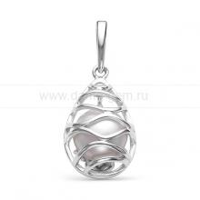 Кулон из серебра с белой речной жемчужиной. Артикул 12088