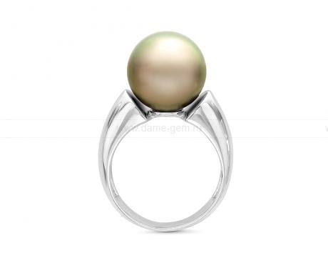 Кольцо из серебра с Таитянской морской жемчужиной. Артикул 12117