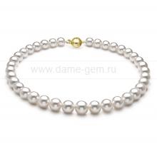 Ожерелье из белого морского Австралийского жемчуга 11-13,7 мм. Артикул 12217