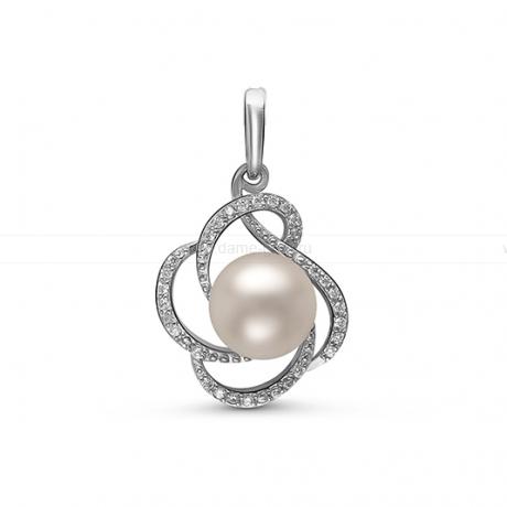 Кулон из серебра с белой жемчужиной 8,5-9 мм. Артикул 12226