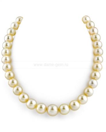 Ожерелье из золотистого жемчуга