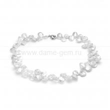 """Ожерелье из белого барочного жемчуга """"Кеши"""" 9-11 мм. Артикул 12236"""
