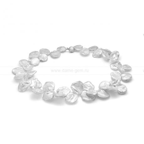 Ожерелье из белого барочного жемчуга