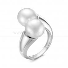 Кольцо из серебра с белым Австралийским жемчугом 9-9,5 мм. Артикул 12246
