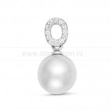 Кулон из серебра с белой Австралийской жемчужиной 10,6-10,9 мм. Артикул 12248