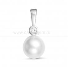 Кулон из серебра с белой Австралийской жемчужиной 9,6-9,9 мм. Артикул 12249