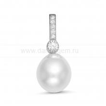 Кулон из серебра с белой Австралийской жемчужиной 10-10,5 мм. Артикул 12250