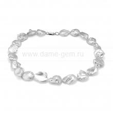 "Ожерелье из белого речного жемчуга ""Барокко"". Артикул 12263"