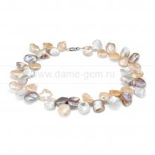 """Ожерелье """"микс"""" из розового барочного жемчуга 14-17 мм. Артикул 12264"""