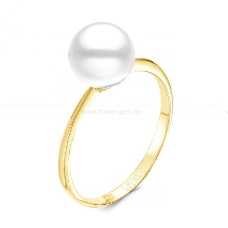 Кольцо из серебра с белой жемчужиной. Артикул 12270