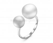 Кольцо из серебра с белым жемчугом. Артикул 12281