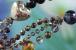 Бусы из черного агата и кристаллов. Артикул 12315