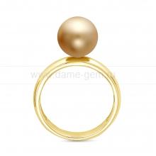 Кольцо с золотистой Австралийской жемчужиной. Артикул 12343