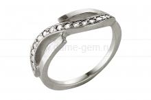 Кольцо из серебра 925 пробы с фианитами. Артикул 12361