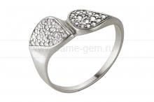Кольцо из серебра 925 пробы с фианитами. Артикул 12364