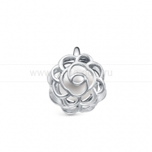 Кулон серебряный с белой речной жемчужиной 6,5-7 мм. Артикул 12388