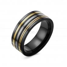 Кольцо мужское из ювелирной стали. Артикул 12509