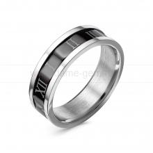 Кольцо мужское из ювелирной стали. Артикул 12511