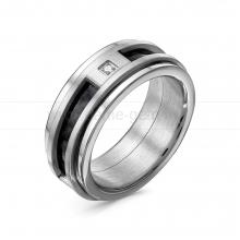 Кольцо мужское из ювелирной стали. Артикул 12513