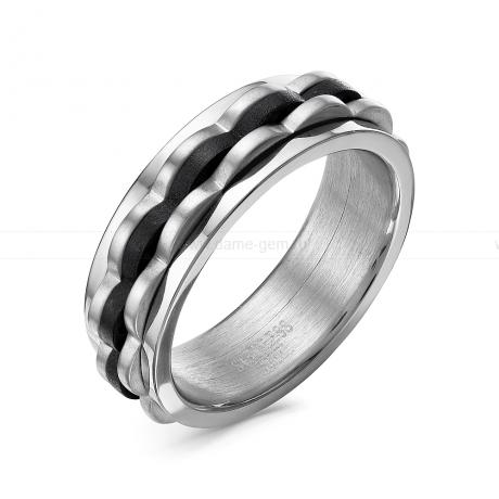 Кольцо мужское из ювелирной стали. Артикул 12514