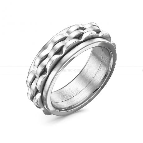 Кольцо мужское из ювелирной стали. Артикул 12515