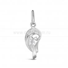 Кулон из серебра, украшенный фианитами. Артикул 12521