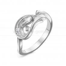 Кольцо из серебра, украшенное фианитами. Артикул 12522