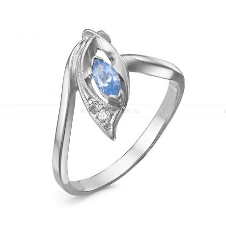 Кольцо из серебра, украшенное фианитами. Артикул 12524
