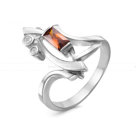 Кольцо из серебра 925 пробы, украшенное фианитами. Артикул 12527