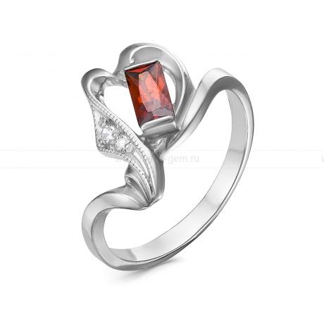 Кольцо из серебра, украшенное фианитами. Артикул 12532