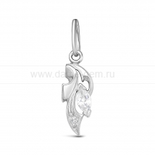 Кулон из серебра, украшенный фианитами. Артикул 12536