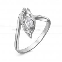 Кольцо из серебра 925 пробы, украшенное фианитами. Артикул 12563
