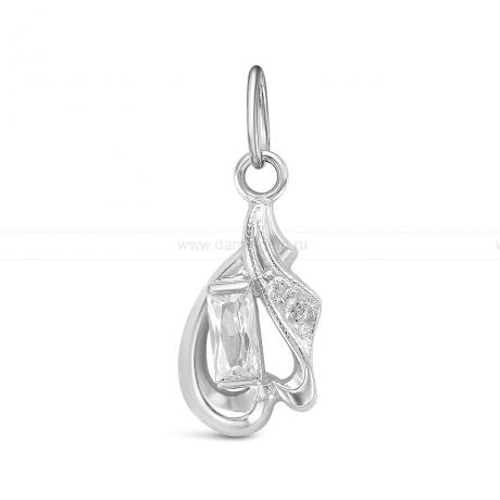 Кулон из серебра 925 пробы, украшенный фианитами. Артикул 12570