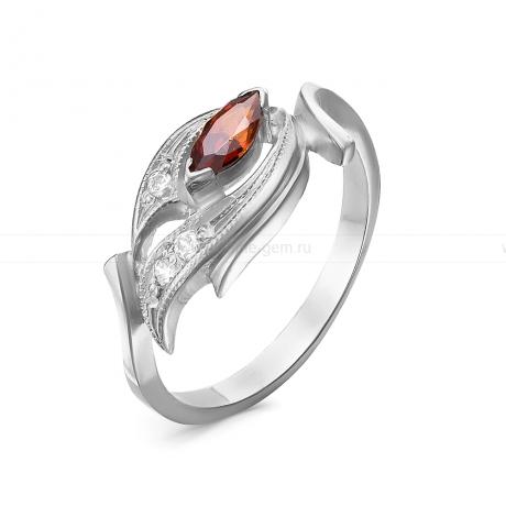 Кольцо из серебра 925 пробы, украшенное фианитами. Артикул 12571