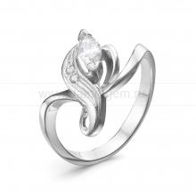 Кольцо из серебра 925 пробы, украшенное фианитами. Артикул 12581
