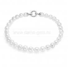 Ожерелье из 30 жемчужин из белого круглого жемчуга 11-13 мм. Артикул 12598